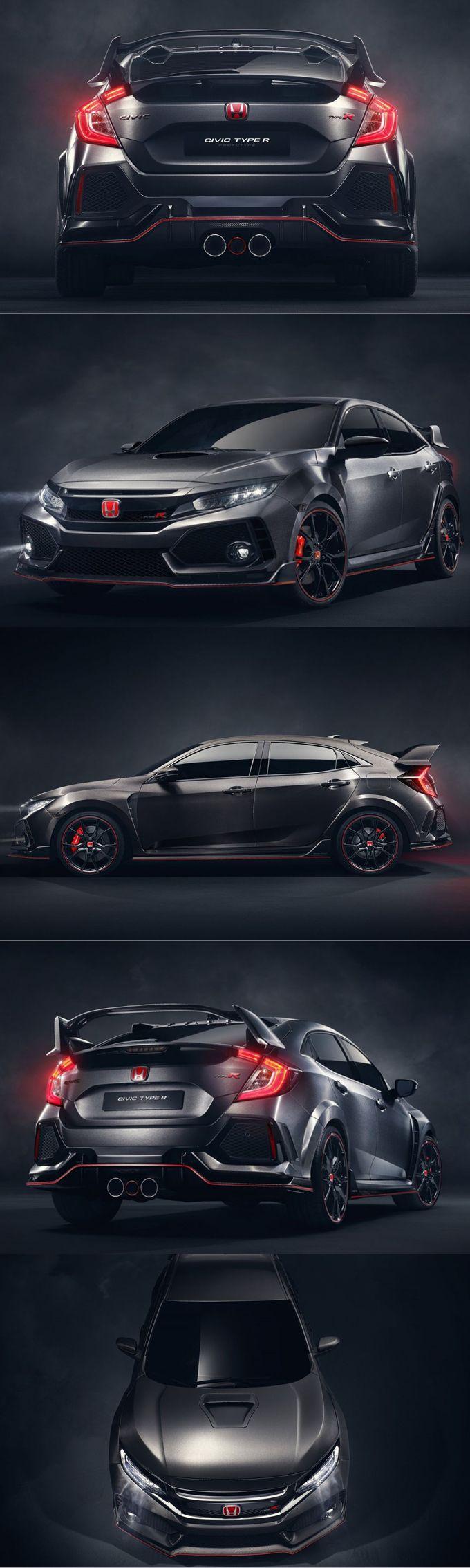 2016 honda civic type r concept japan grey red hot hatch 16