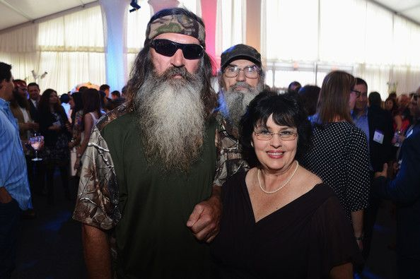 Phil & Kay Robertson attend A Networks 2012 Upfront at Lincoln Center on May 9, 2012 in New York City.    Drape: Custom White Velour Gable