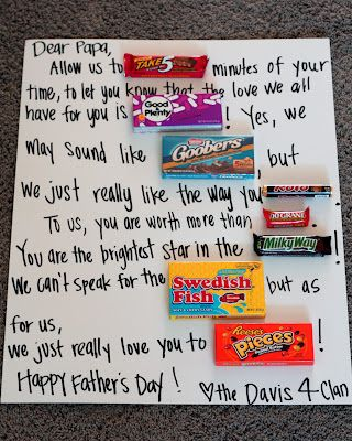 Amy's Craft Bucket: Homemade Father's Day Candy Message!