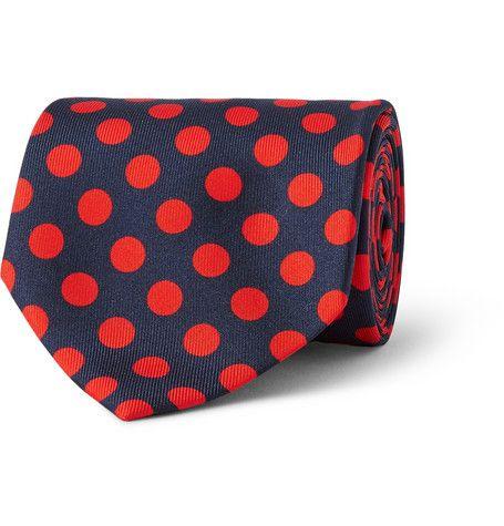 MP Massimo Piombo Polka-Dot Silk-Faille Tie | MR PORTER
