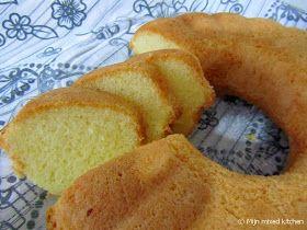 Mijn mixed kitchen: Limonlu unsuz kek (luchtige cake met citroen)