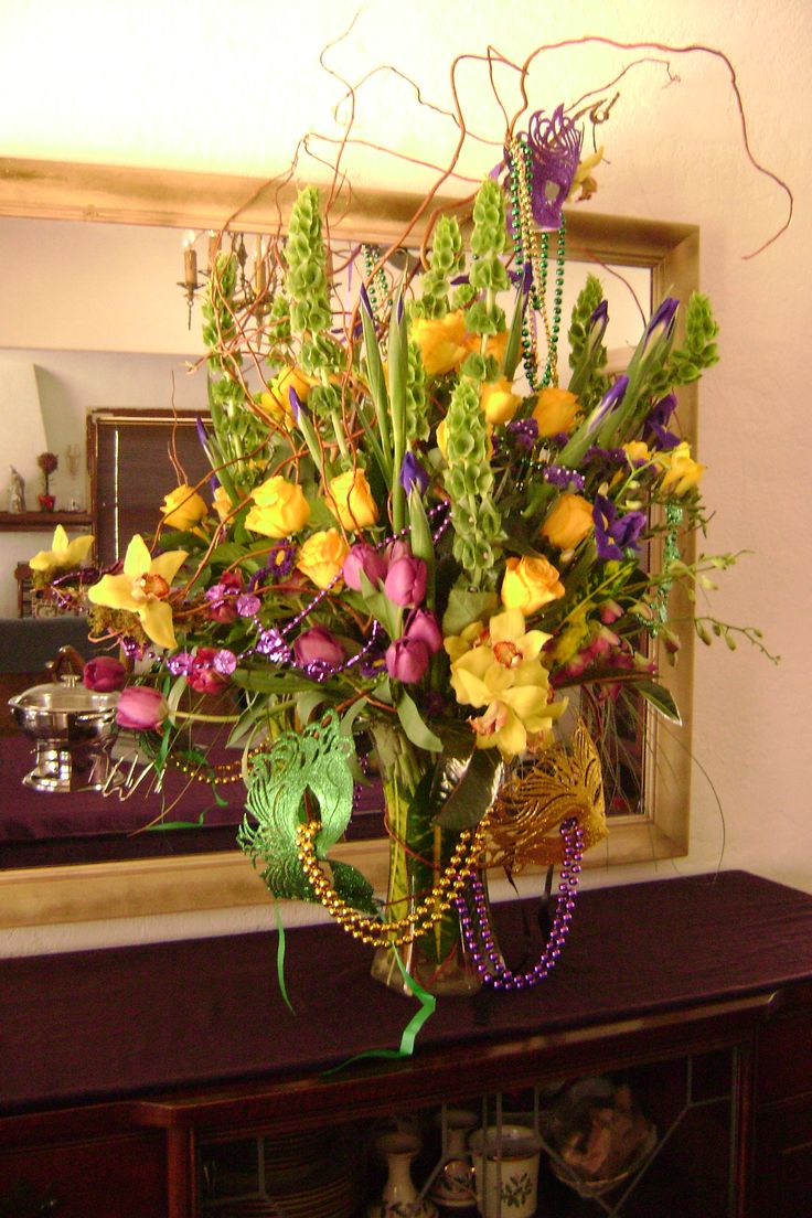 10 Best Images About Mardi Gras Arrangements On Pinterest