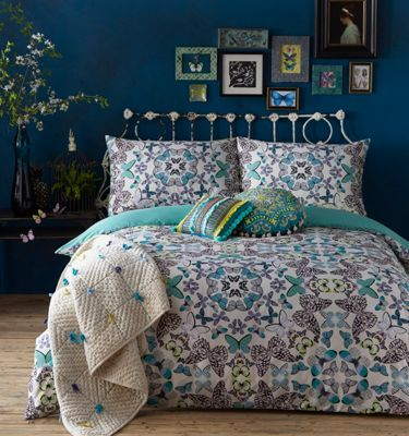 Butterfly Home by Matthew Williamson Multi-coloured 'Kaleidoscope Butterfly' 220 thread count duvet cover and pillow case | Debenhams