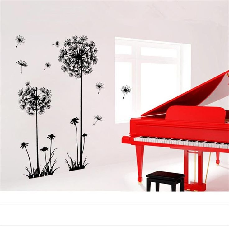 Flying Dandelion Flowers Removable Wall Decal – GetheBuzz