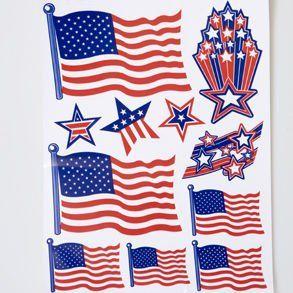 #4thofjuly -  Patriotic Window Clings / http://www.holidaygoodness.com/patriotic-window-clings/