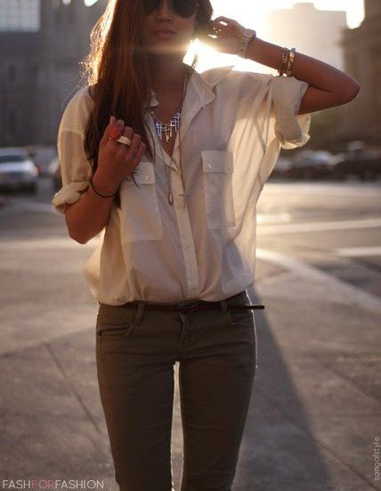 I love loose blouses; yet I have none...i always feel i look fatter in them but tucking them in seems like a great idea!!!