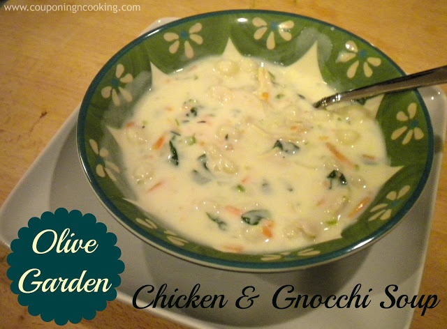 Olive Garden's Chicken & Gnocchi Soup (Copy Cat recipe) Use rotisserie chicken or roasted thighs for meat, add pinch of nutmeg to soup