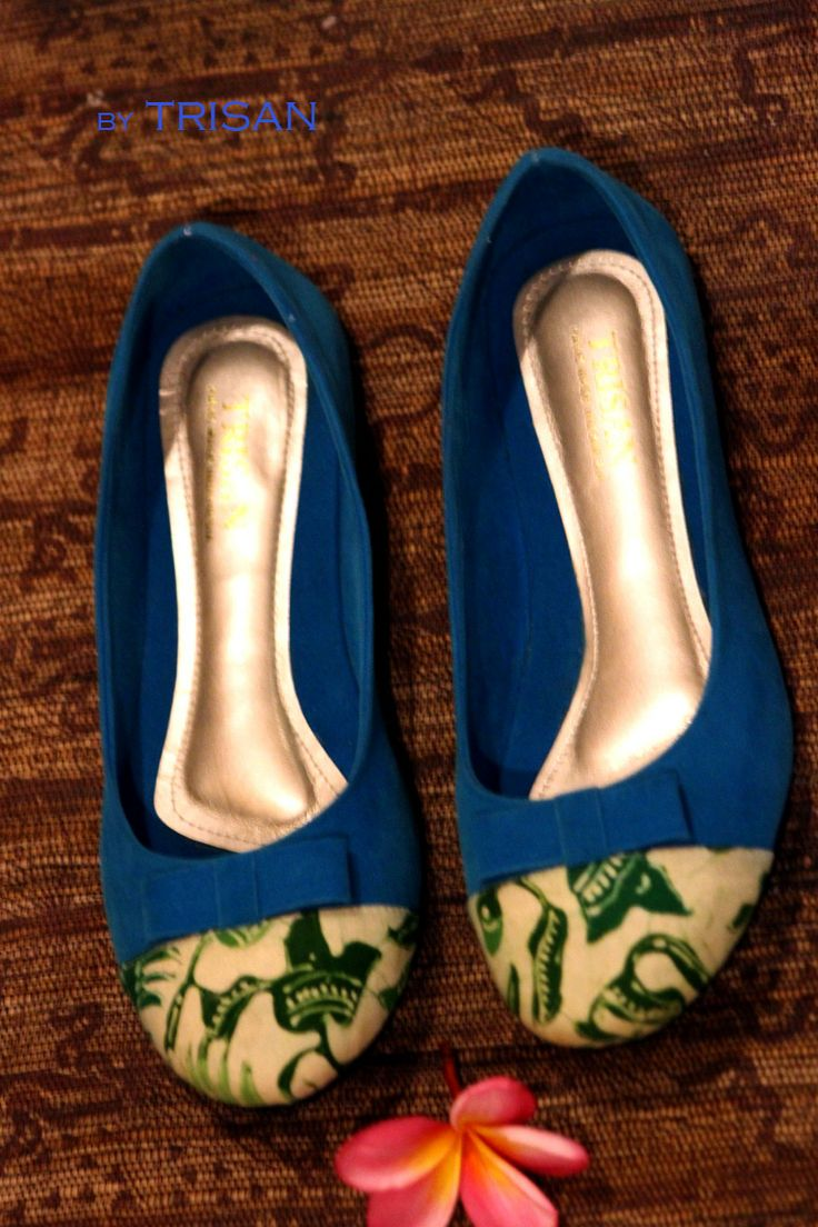 Flast shoes batik Paoman blue