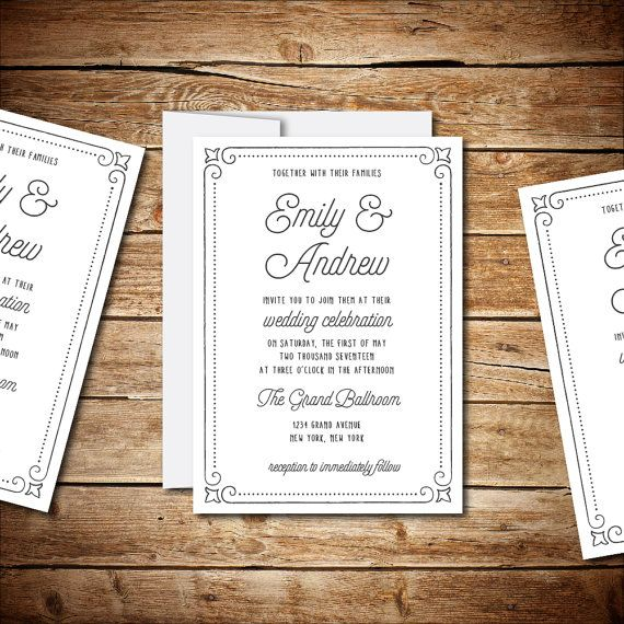 58 best images about Wedding Invitation Templates – Word Document Invitation Template