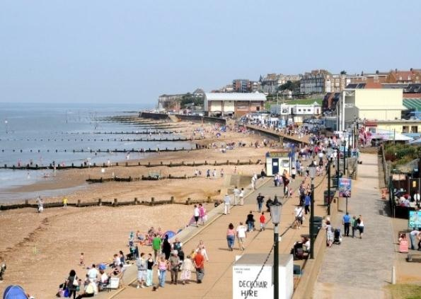 Hunstanton, Norfolk. Paid a quick visit here on a school trip in the 50s after visiting Walsingham.