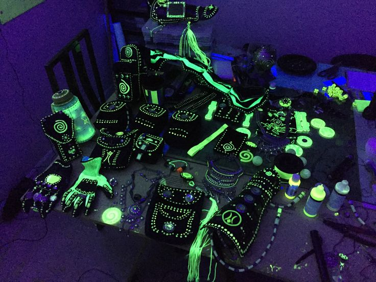 Enki, Technoshaman equipment  #glow #glowinthedark #fluorescent #uvreactive #burningman #burningman #costume #cosplay #props #costumeprops #brc #technoshaman #shaman #futureprimitive #magician #wizard #uv #blacklight #uvled #edm #rave #raveready #neongreen #fluorescent #lightwarrior  #fashion  #burningmancostume