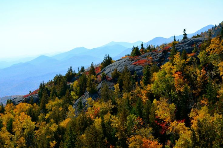 This magnificent view was taken hiking along Rocky Peak Ridge, in New York's Adirondack mountains. The autumn colors are at their best at the end of September and early October ...