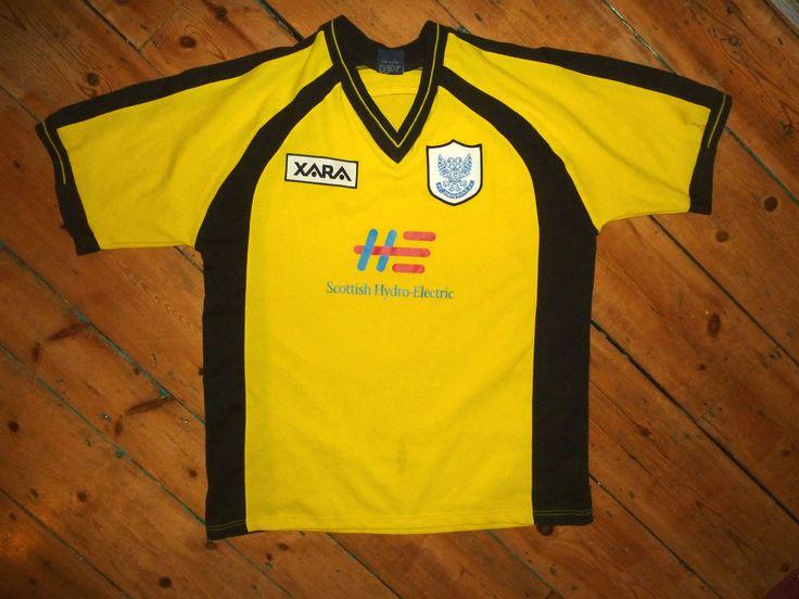 large ST JOHNSTONE FC SHIRT xara away 99/00 RETRO & RARE soccer jersey