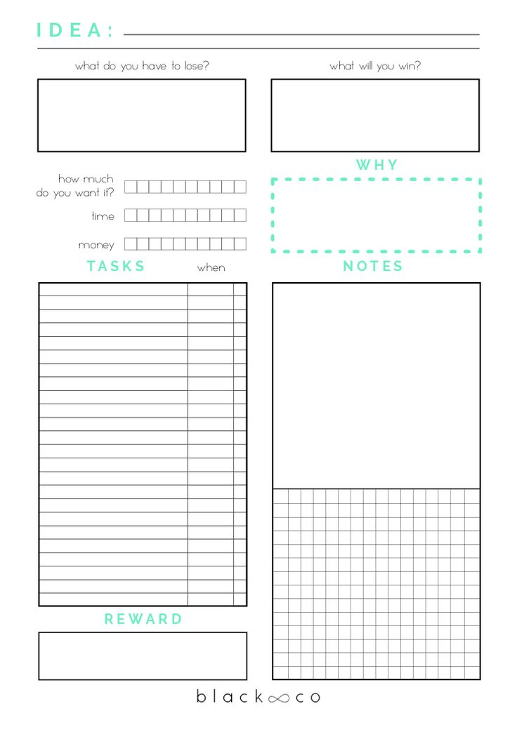 planner page template
