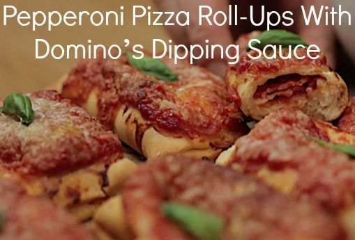 Party food - Pepperoni Pizza Roll-Ups With Dolmio Dipping Sauce. For the full recipe visit: http://twistedfood.co.uk/pepperoni-pizza-roll-ups-dominos-dipping-sauce/