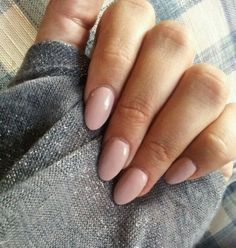 My favorite nail shape at the moment. simple nail design tender pink old rose, …  #design #favorite #moment #shape #simple #tender