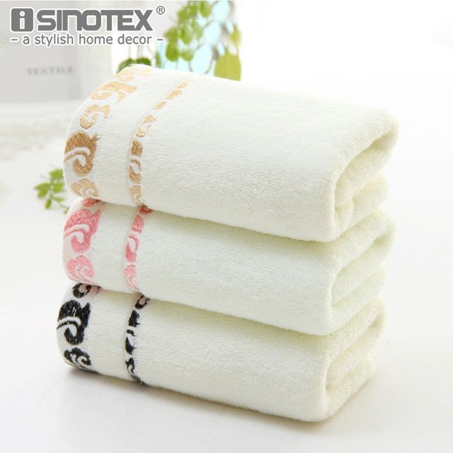 Exquisite Cloud Embroidered Bath Towel Cotton Face Towel Washcloth