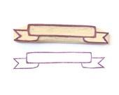 Banner DIY Rubber Stamp - Hand Carved Stamp