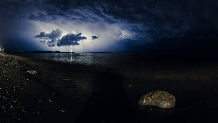 Lighting strikes central EviaGreece as seen from the beach of Marathonas . . . . . . . . .#pttlgr #photocontestgr #instalifo #amazing #travel_greece #instatravel #instago #love  #Athina #Greece #water #landscape #sunset #storm #sky #light #outdoors #weather  #nature  #evening #dusk  #dark #rain #ocean #travel #traveling #visiting #instatravel #instago #seashore