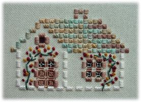 Home Sweet Home in Hardanger embroidery