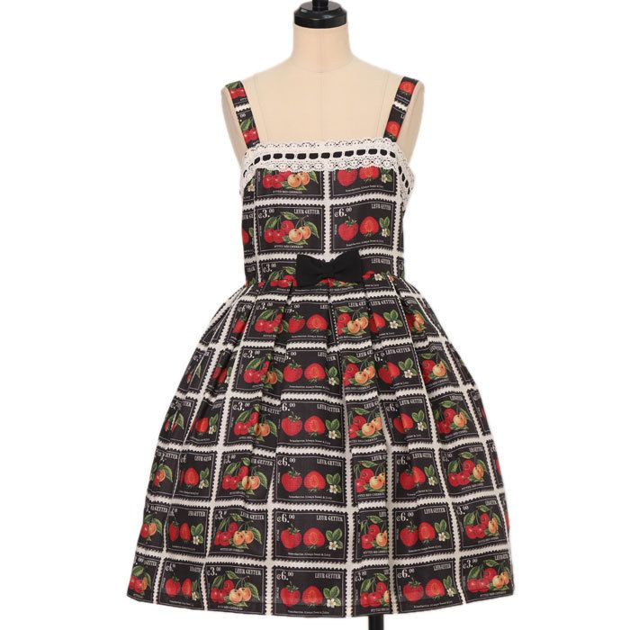 Worldwide shipping available ♪ Leur Getter ☆ ·. . · ° ☆ Fresh Fruit Stamp Cami Dress https://www.wunderwelt.jp/en/products/w-17378  IOS application ☆ Alice Holic ☆ release Japanese: https://aliceholic.com/ English: http://en.aliceholic.com/
