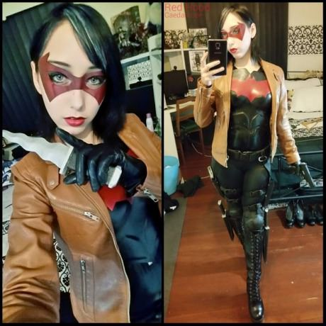Female red hood cosplay