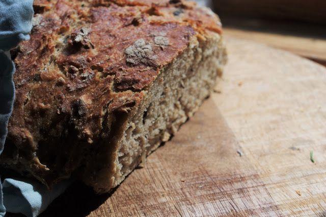 Nettle, mint bread