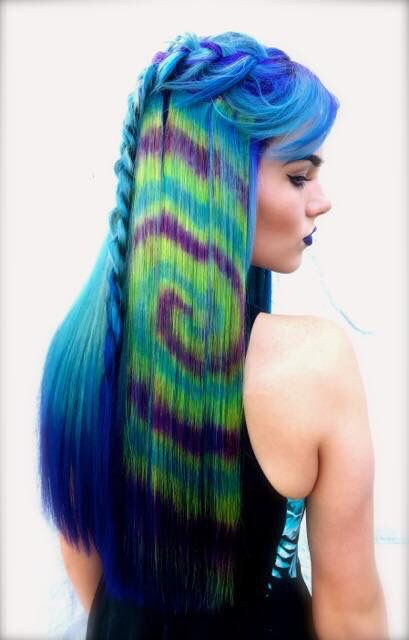 Tie Dye Hair Art Done With Pravana Vivids And Pravana