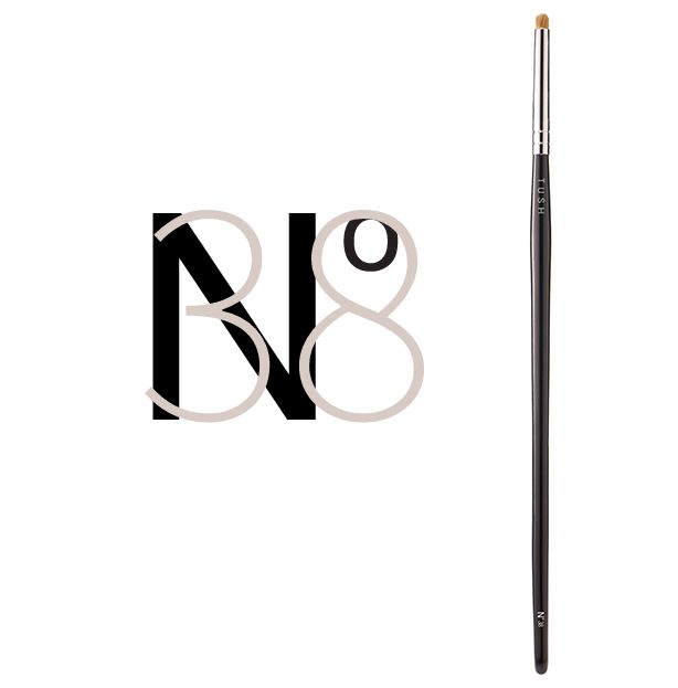 Nr 38 Mini Eye Contour Brush. The small version of the rounded eye contour brush made of natural bristles. It's tiny round shape is ideal for applying make up more precisely, emphasizing or tracing the eye contours and to create soft definition in the eye crease for a glamorous dramatic look. Available at www.tushbrushes.com