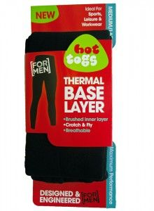 Men's thermal Base Layer Leggings - with fly and crotch - super warm - brushed lining just £14.99 @IBEX Camping
