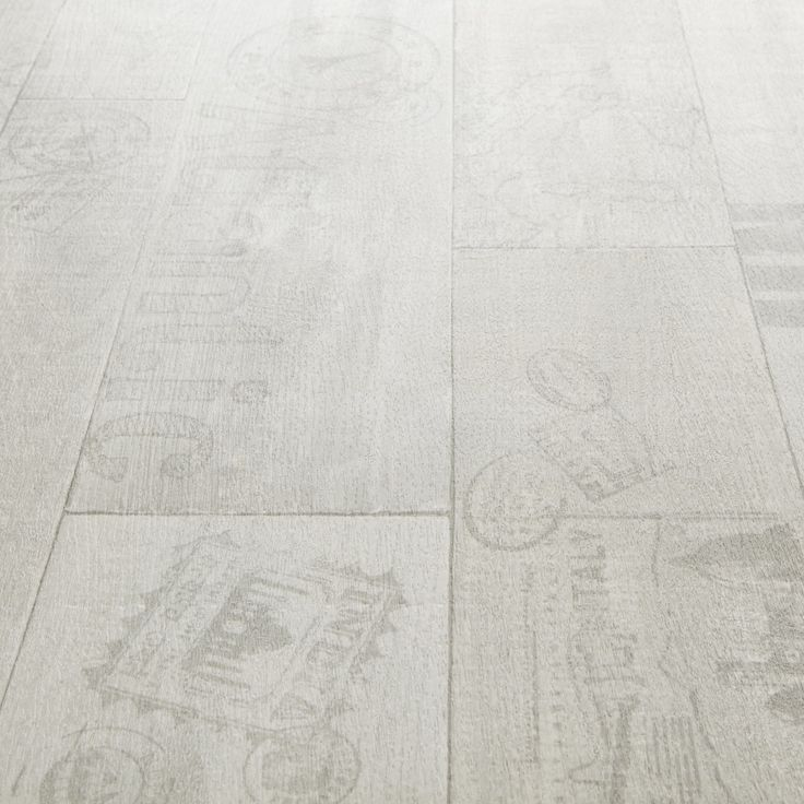 Rhino Style Printed White Wood Effect Vinyl Flooring