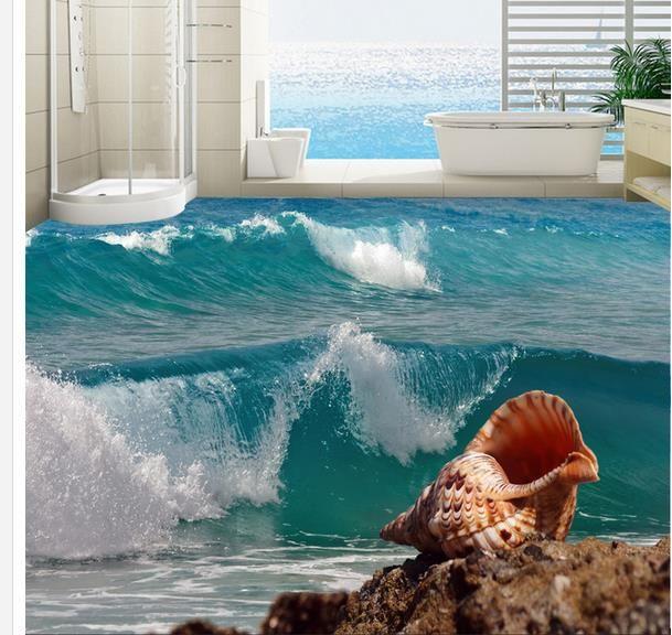 Encargo de la foto papel pintado 3D estereoscópica 3D fondo del océano 3D mural papel pintado del PVC autoadhesión piso wallpaer 20156966