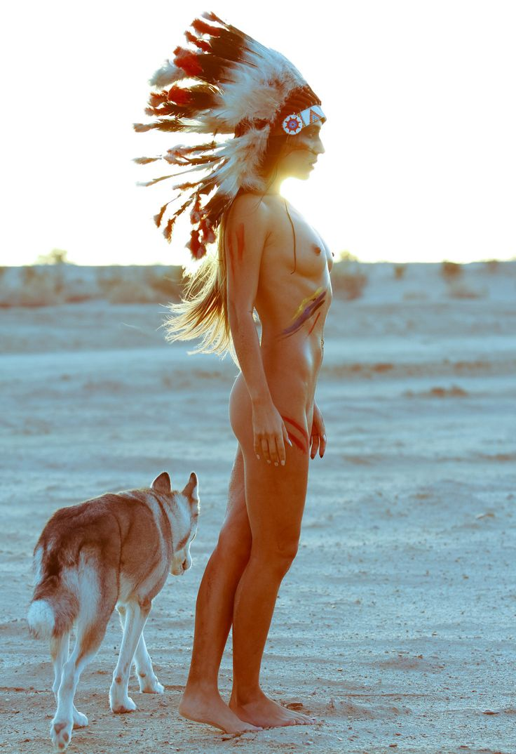 Indian Naked Girl Beach Sun Dog Love It  Te Wszystko I -2377