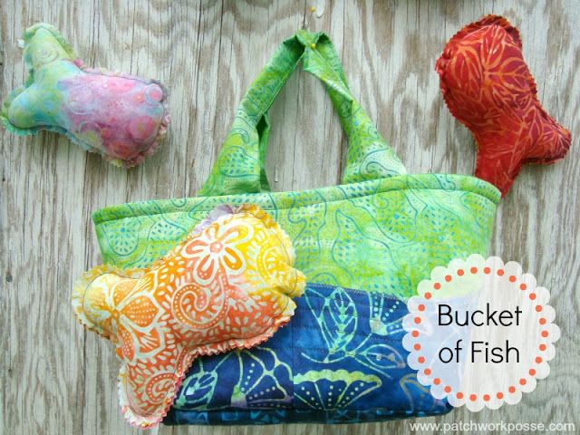 Bucket of fish toss game tutorial on the moda bake shop for Bucket of fish