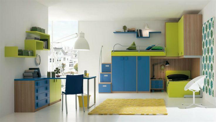 Boekenrek en niveau interieur bram 39 s kamer pinterest - Deco moderne ouderlijke kamer ...
