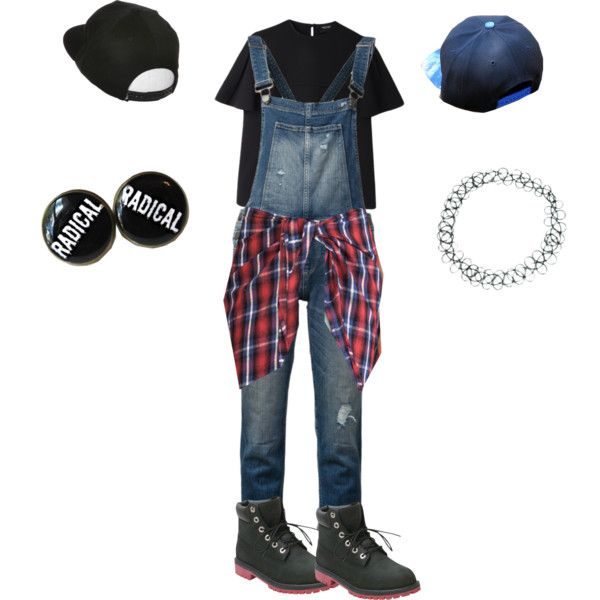 90s Throwback Thursday Outfit (Spirit Week) by shelbychery on Polyvore featuring Evil Twin, Rachel Comey, Paige Denim, Timberland, ASOS and Lakai