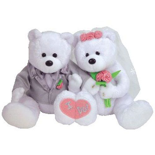 b41dee4e5e2 TY Beanie Babies - WE DO the Wedding Bears (set of 2) (8.5 inch ...