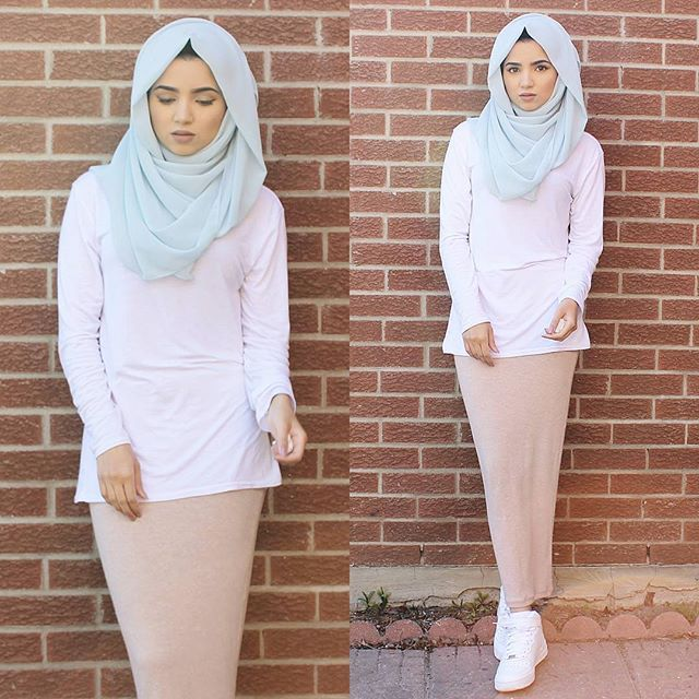 Hijab from @voilechic Skirt from @ugaasadda.co