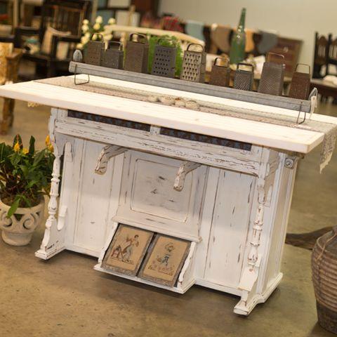 Antique Organ Base Kitchen Island Morgan Allen Designs