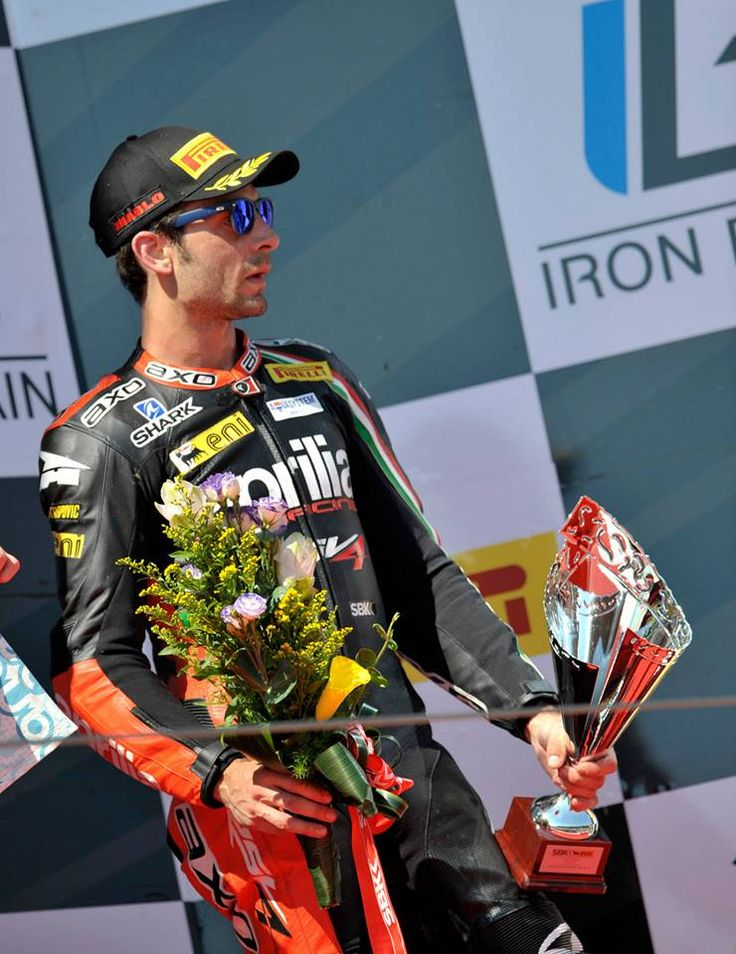Imola races - Sylvain Guintoli.  At the end of a difficult and more than a bit unlucky weekend the Aprilia Racing Team leaves the Imola round with two podiums (Laverty third in Race 1 and Guintoli third in Race 2) as well as the leadership in the world Manufacturer championship. Discover more!
