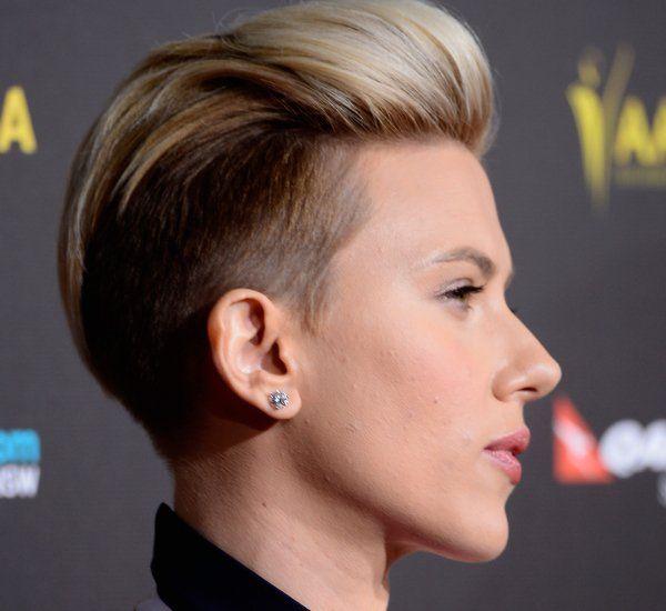 Scarlett Johansson Undercut Hairstyle Backview