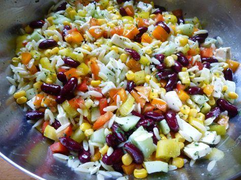 Das perfekte Kritharaki-Salat-Rezept mit Bild und einfacher Schritt-für-Schritt-Anleitung: Die Kritharaki-Nudeln nach Packungsanweisung kochen, abgießen…