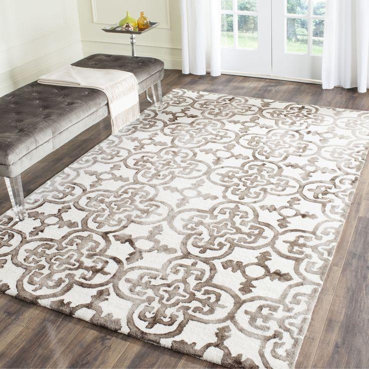 safavieh handmade dip dye watercolor vintage ivory brown wool rug 5u0027 x 8