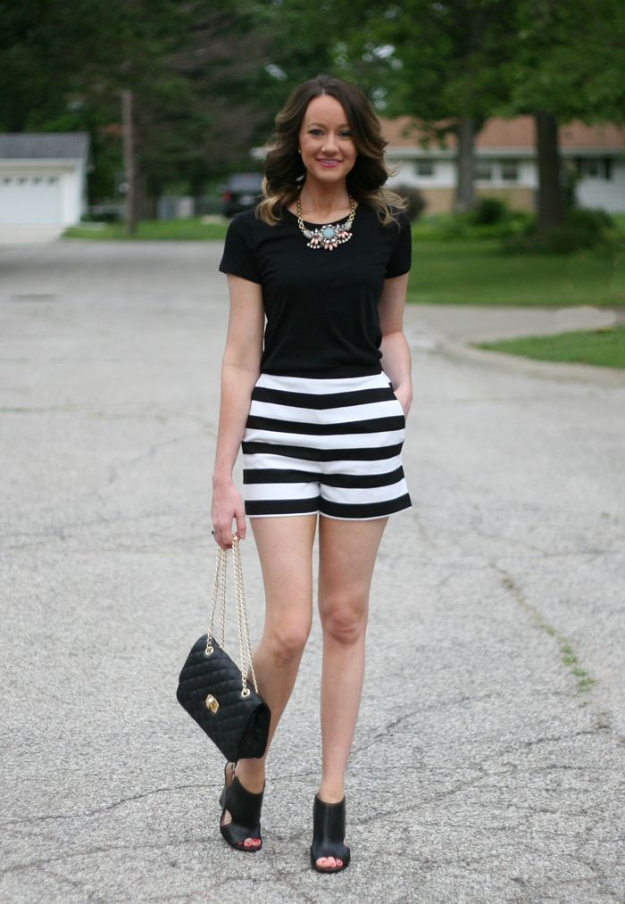 1000+ images about Black and White Striped Shorts on Pinterest
