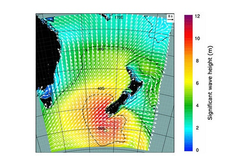 Article: Predicting wave conditions in New Zealand, based on numerical modelling.