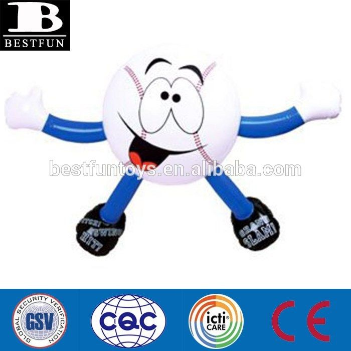 factory supply custom inflatable baseball mascot Man plastic sports buddies toys games fun garden pool toy bedroom decoration #baseball, #Decorations