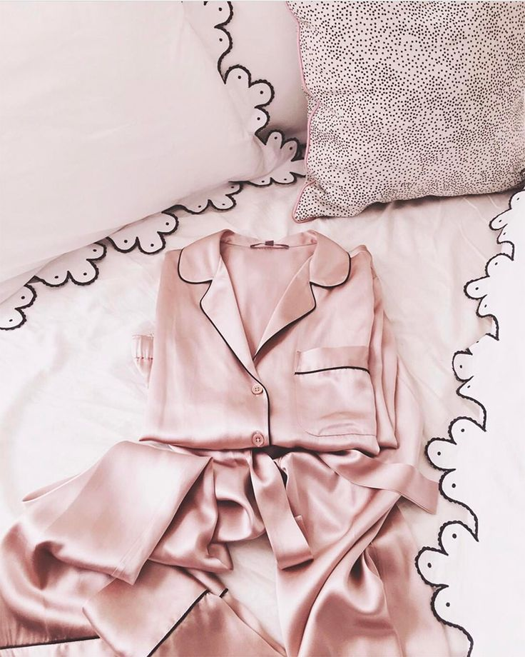 pink silk pj's