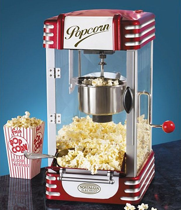 Keep this retro popcorn machine on hand as the next best thing to a theater concession stand.