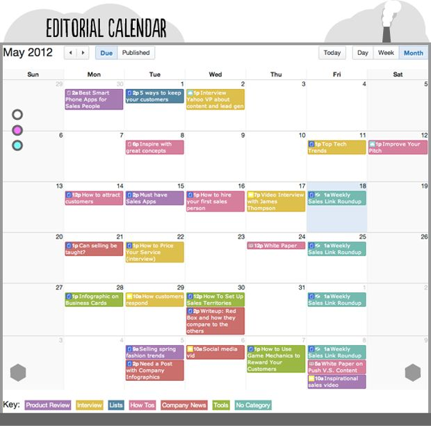 29 Best Editorial Content Calendar Templates Images On Pinterest