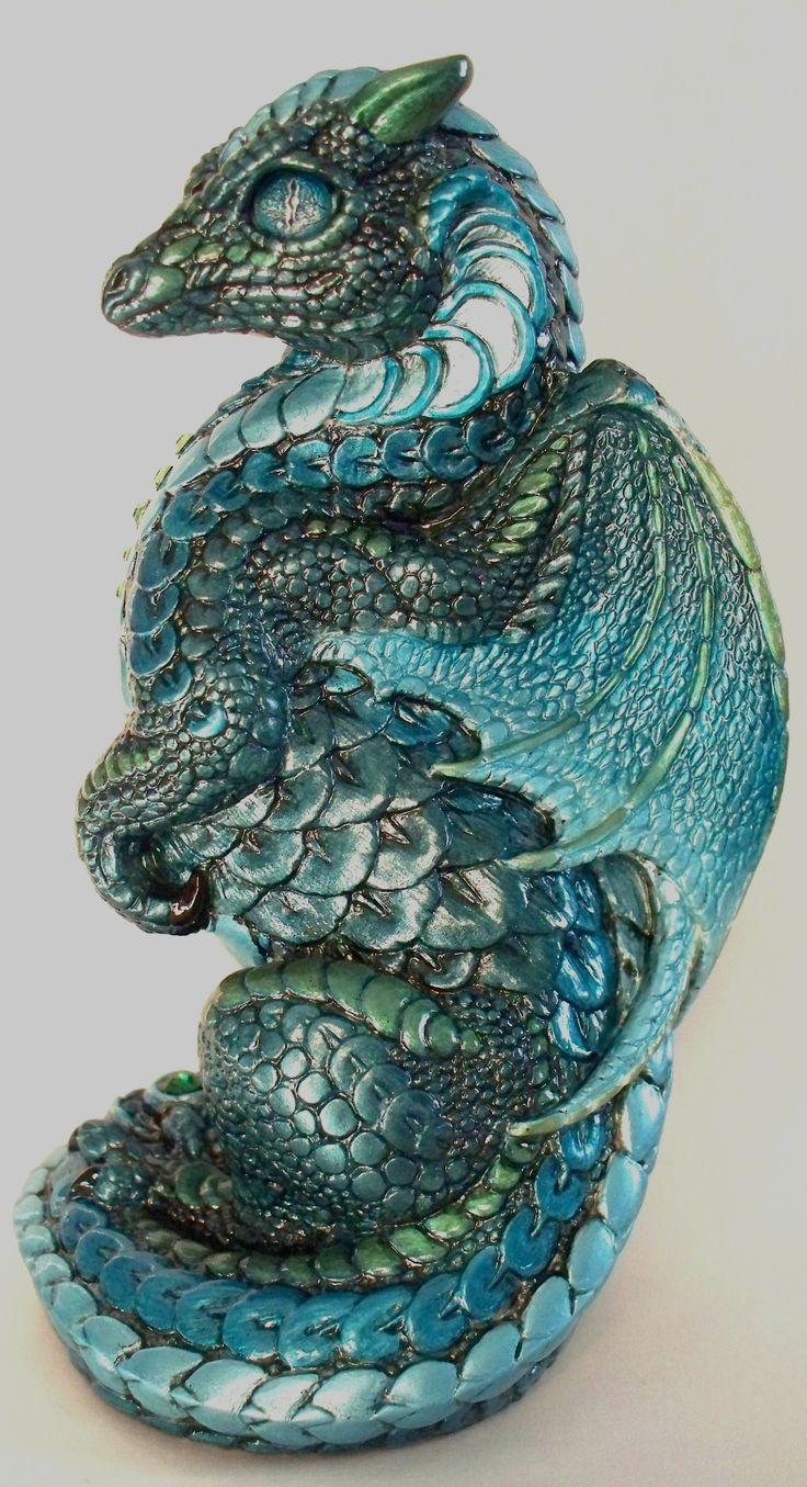 Aquarian Small Dragon Painted by Branzyboo (Brandy Hlady) (gifted)